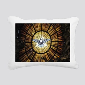 Dove Window at St Peters Rectangular Canvas Pillow