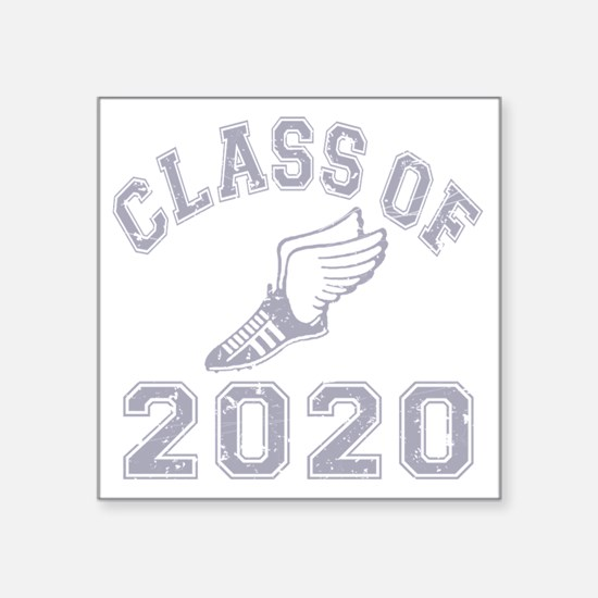 "CO2020 Track Grey Distresse Square Sticker 3"" x 3"""