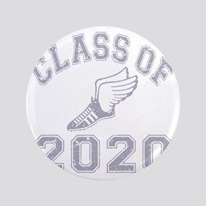 """CO2020 Track Grey Distressed 3.5"""" Button"""