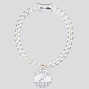 CO2020 Track Grey Distre Charm Bracelet, One Charm