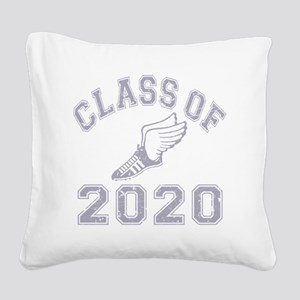 CO2020 Track Grey Distressed Square Canvas Pillow