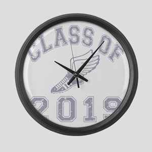 CO2019 Track Grey Distressed Large Wall Clock
