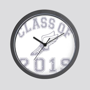 CO2019 Track Grey Distressed Wall Clock