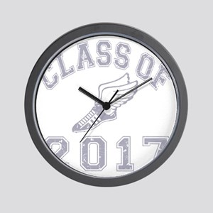 CO2017 Track Grey Distressed Wall Clock
