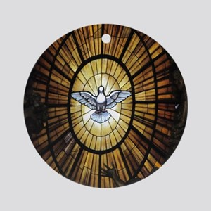 dove_window_crop_525x525 Round Ornament
