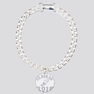 CO2018 Track Grey Distre Charm Bracelet, One Charm