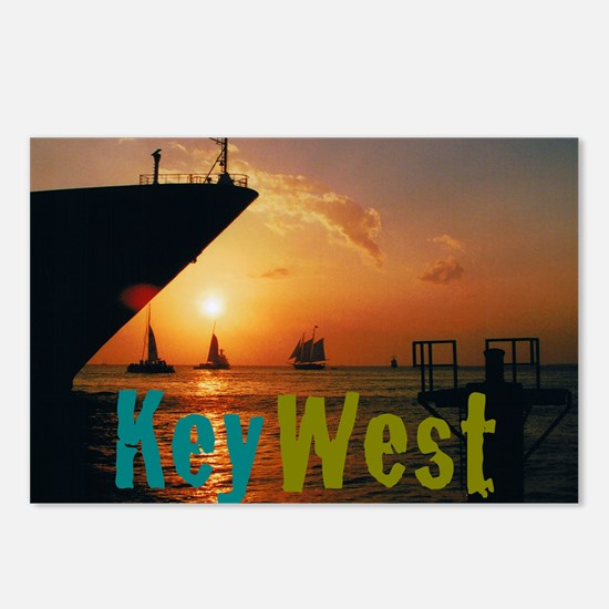 11.5x9at255SunsetShipKW Postcards (Package of 8)