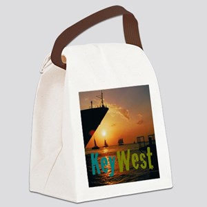 11.5x9at255SunsetShipKW Canvas Lunch Bag