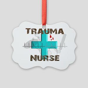 trauma nurse blood drops 2012 Picture Ornament