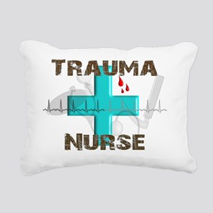 trauma nurse blood drops Rectangular Canvas Pillow