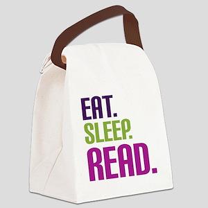 eatsleepread Canvas Lunch Bag