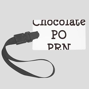 FIN-chocolate-po-prn-CROP Large Luggage Tag