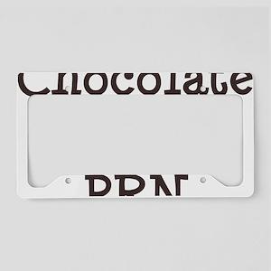 FIN-chocolate-po-prn-CROP License Plate Holder