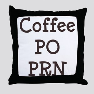 FIN-coffee-po-prn-CROP Throw Pillow