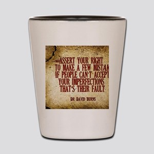 Assert Your Right Quote on Jigsaw Puzzl Shot Glass