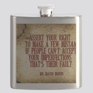 Assert Your Right Quote on Jigsaw Puzzle Flask