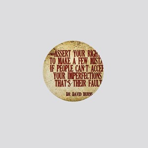Assert Your Right Quote on Jigsaw Puzz Mini Button