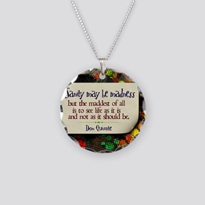 See Life Quote on Jigsaw Puz Necklace Circle Charm
