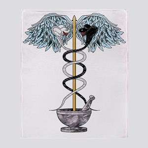 Caduceus Transparent 4000 copy Throw Blanket