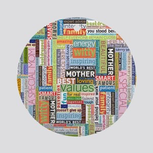 Mother 10x13 Round Ornament