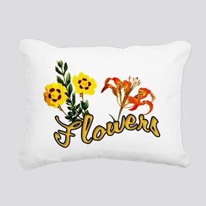 flowers Rectangular Canvas Pillow