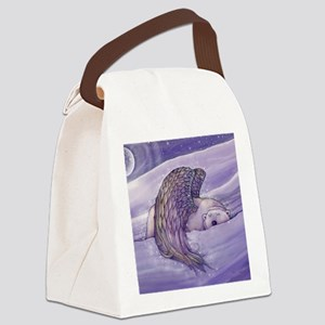 magical winged bear square Canvas Lunch Bag