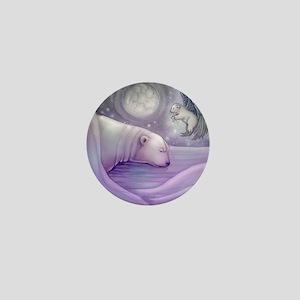 polar bear and angel cp Mini Button