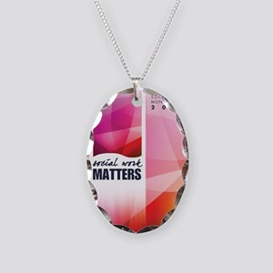 SWM-Poster Necklace Oval Charm