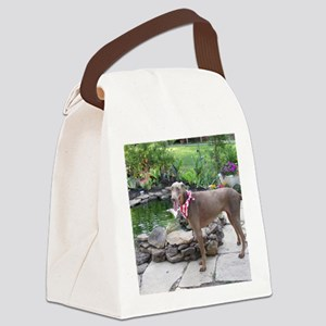 Paint by flowers Canvas Lunch Bag