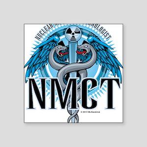 """NMCT-Caduceus-Blue Square Sticker 3"""" x 3"""""""