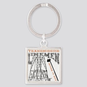 transmission tower Square Keychain