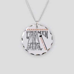transmission tower Necklace Circle Charm