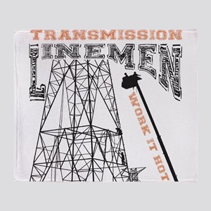 transmission tower Throw Blanket