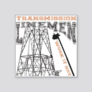 "transmission tower Square Sticker 3"" x 3"""
