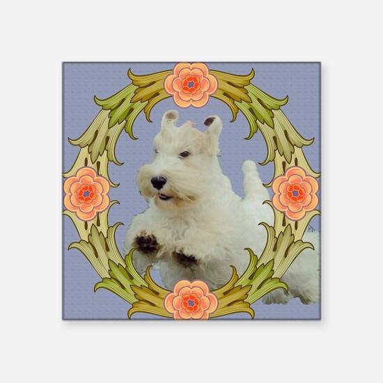 """wreath2crop Square Sticker 3"""" x 3"""""""