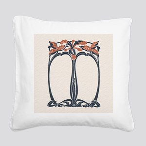 jugend 1900 design 2 Square Canvas Pillow