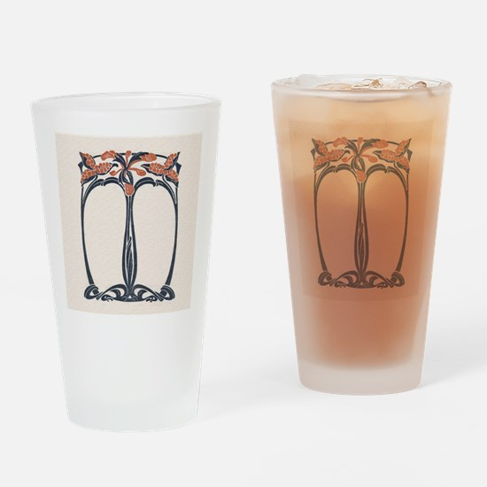 jugend 1900 design 2 Drinking Glass