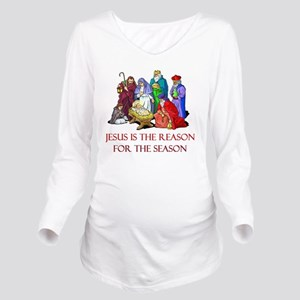 Christmas jesus is t Long Sleeve Maternity T-Shirt