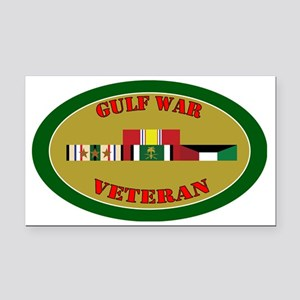 gulf-war-group-3-oval Rectangle Car Magnet