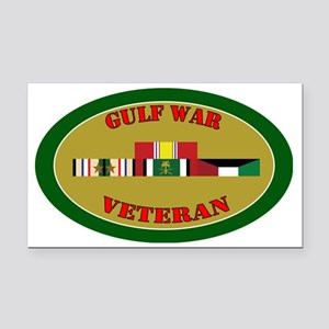 gulf-war-group-2-oval Rectangle Car Magnet