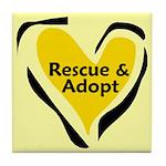 Save A Life - Rescue A Pet Tile Coaster