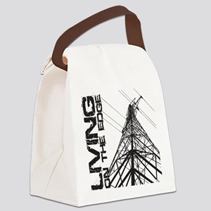 transmission tower edge 1 Canvas Lunch Bag