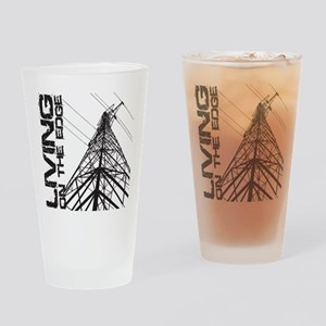 transmission tower edge 1 Drinking Glass
