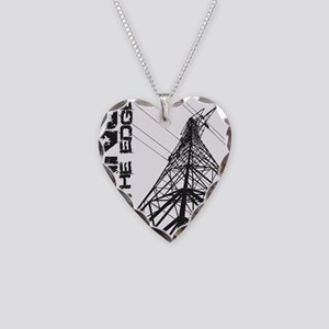 transmission tower edge 1 Necklace Heart Charm