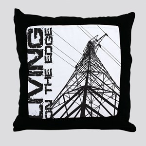 transmission tower edge 1 Throw Pillow