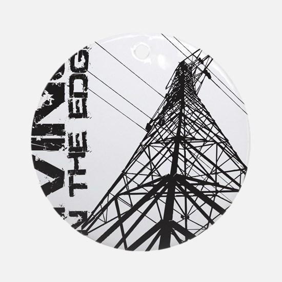 transmission tower edge 1 Round Ornament