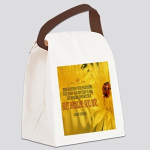 Treat Everyone With Politeness Qu Canvas Lunch Bag