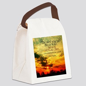 Perfecting Yourself Quote Canvas Lunch Bag