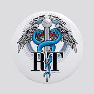 Radiologic-Technologist-Caduceus Round Ornament