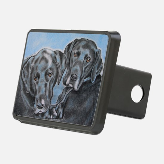two black labs online stor Hitch Cover